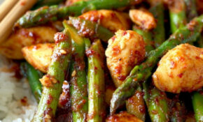 Spicy Korean Chicken Stir Fry With Asparagus | Season With ..