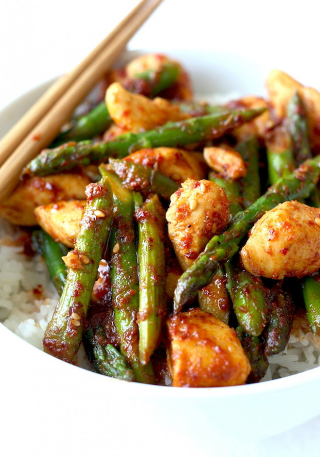 Spicy Korean Chicken Stir-Fry with Asparagus | Season with ..