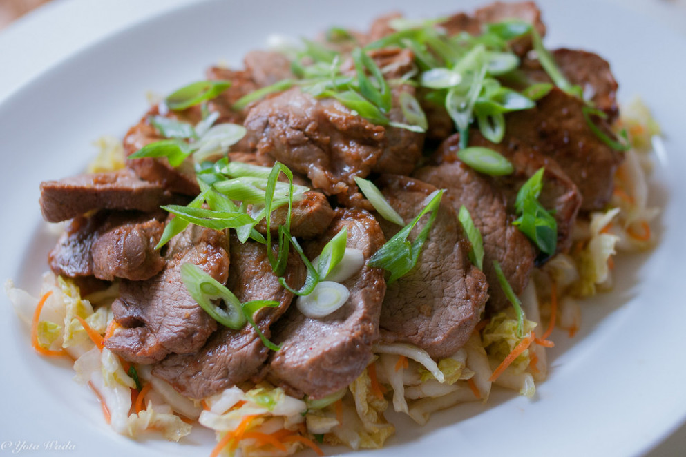 Spicy Korean-Style Pork Medallions with Asian Slaw - recipes by food fusion