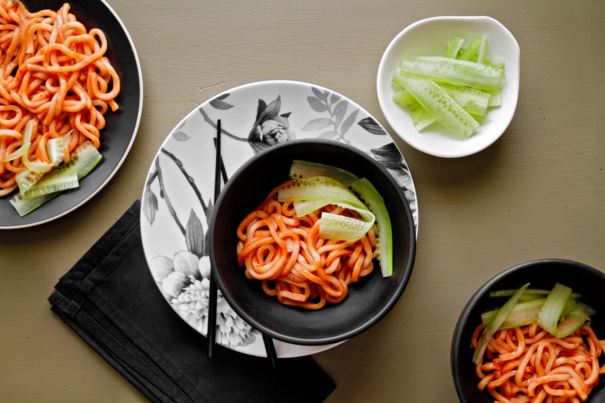 Spicy Korean Temple Noodles Recipe - NYT Cooking - unusual dinner recipes
