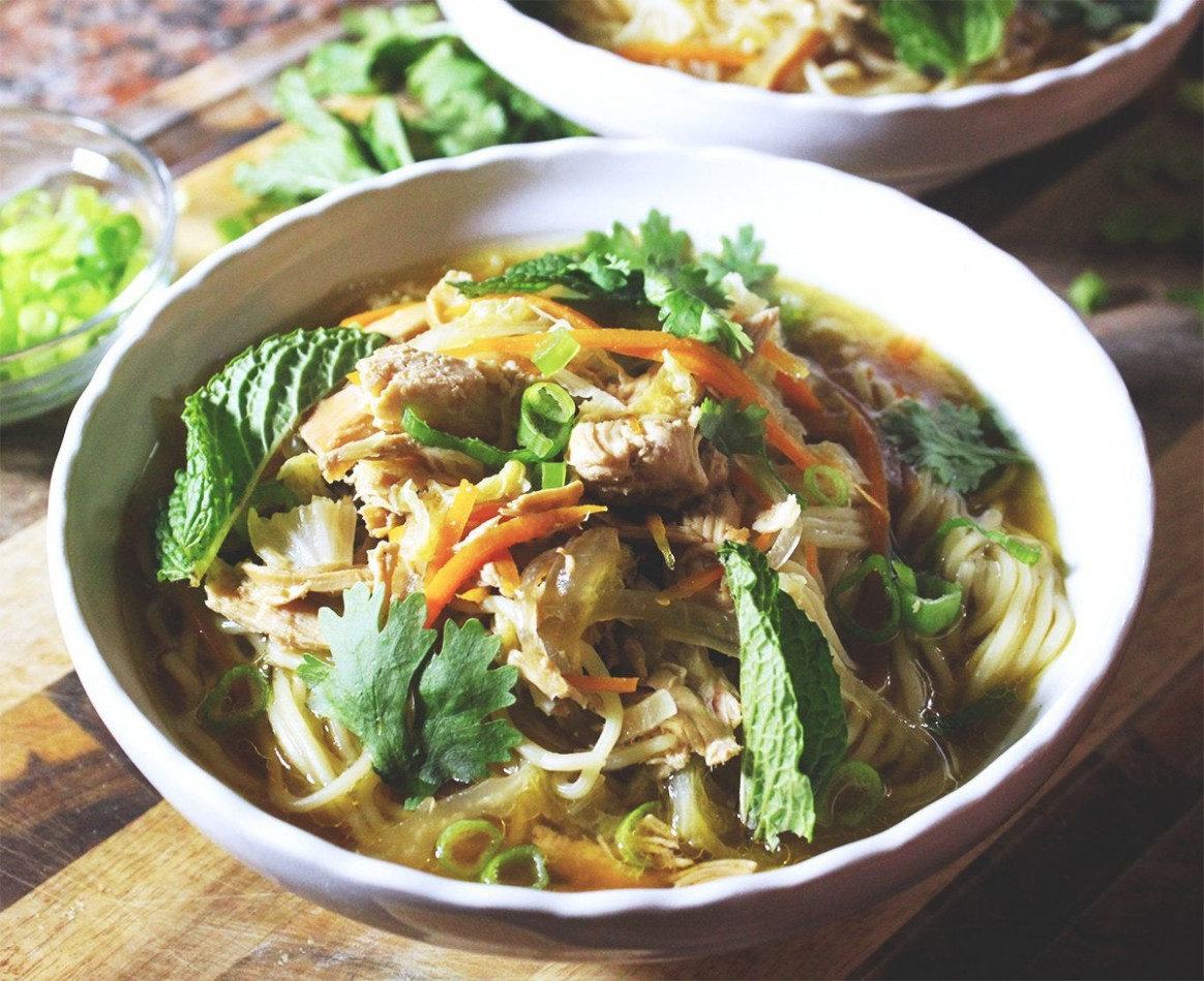 Spicy Lime & Ginger Chicken Noodle Soup [Recipe In ..