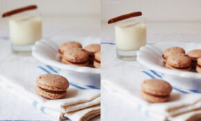 spicy macarons with moroccan almond milk