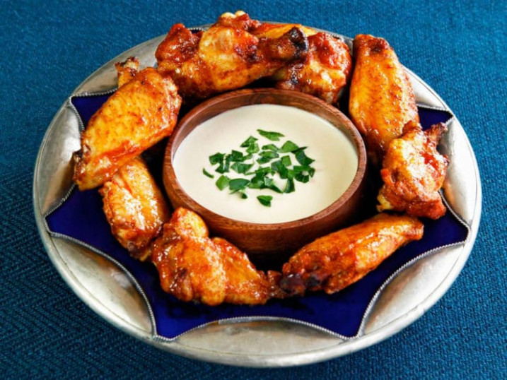 Spicy Middle Eastern Chicken Wings with Tahini Sauce Recipe - middle eastern recipes chicken