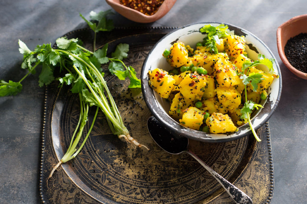 Spicy potato salad (aaloo ko Achar) - recipes nepali food