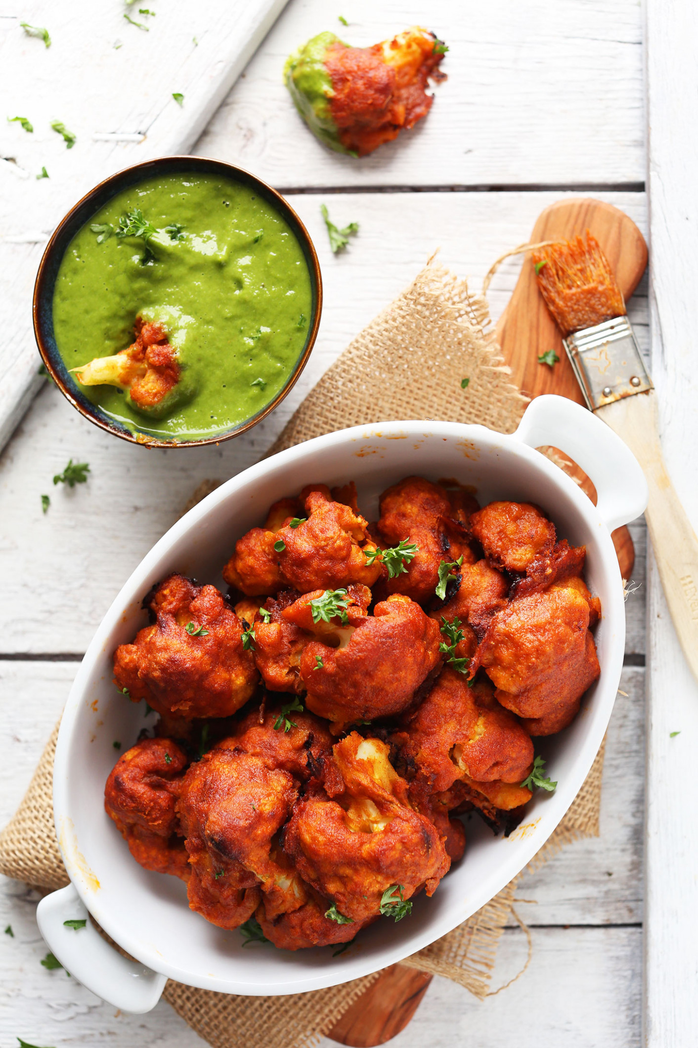 "Spicy Red Curry Cauliflower ""Wings"" - Recipes Cauliflower Vegetarian"