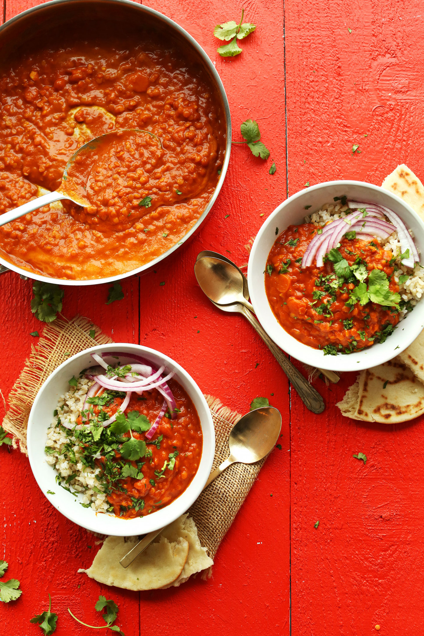 Spicy Red Lentil Curry - curry recipes vegetarian