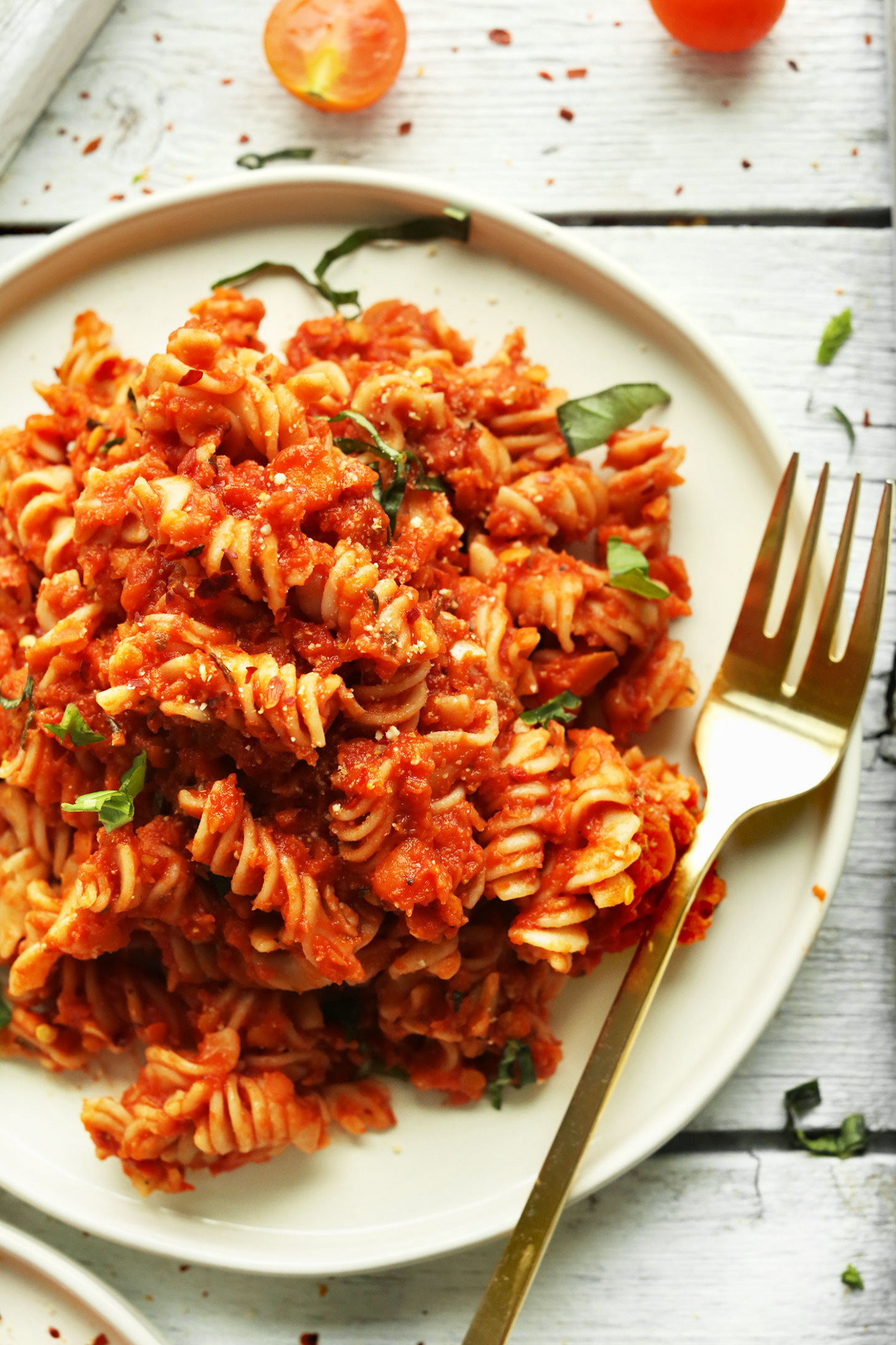 Spicy Red Pasta with Lentils - recipes pasta sauce healthy
