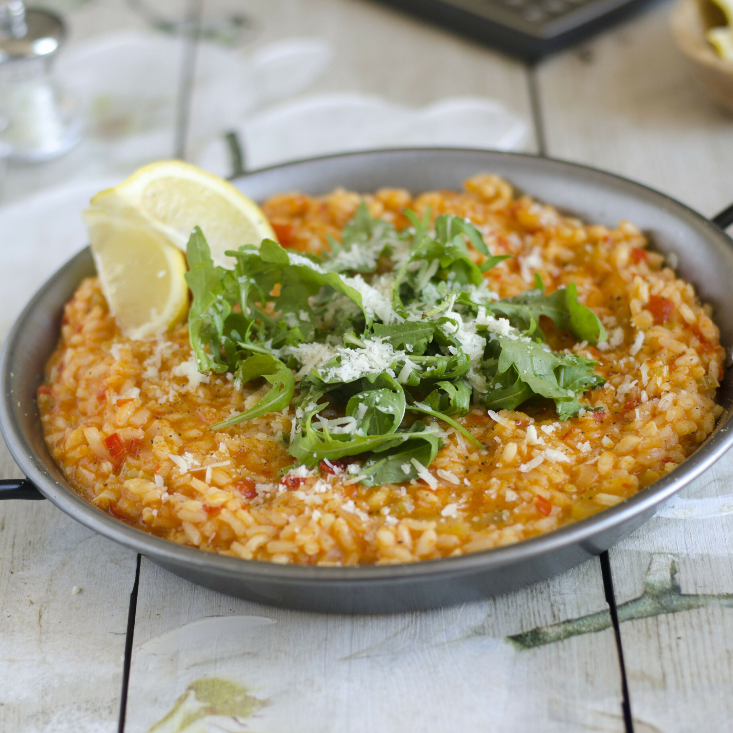 Spicy Risotto with Red Pepper Recipe - red pepper recipes vegetarian