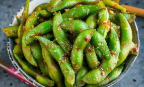 Spicy Sambal Edamame Appetizer – Peas And Crayons – Quick Finger Food Recipes