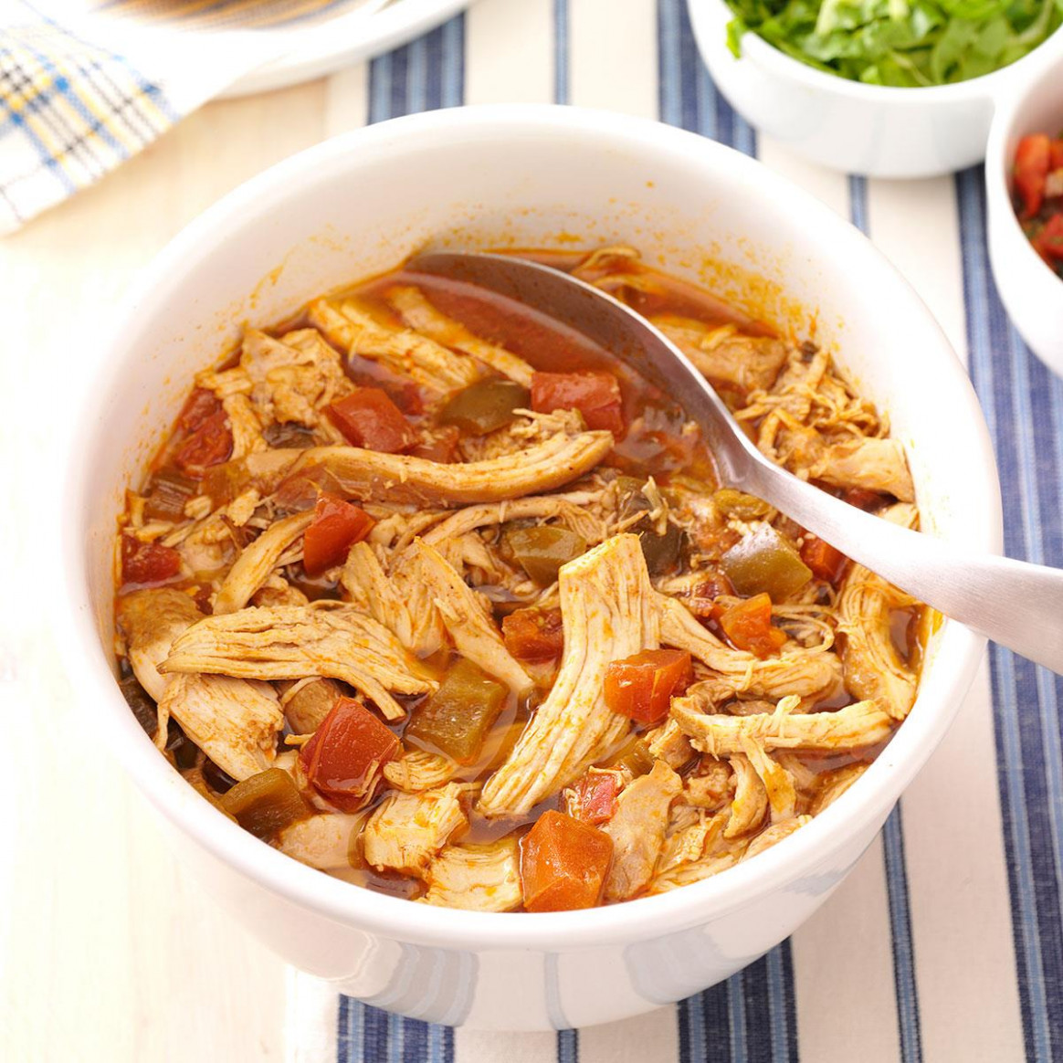 Spicy Shredded Chicken - recipes using cooked chicken