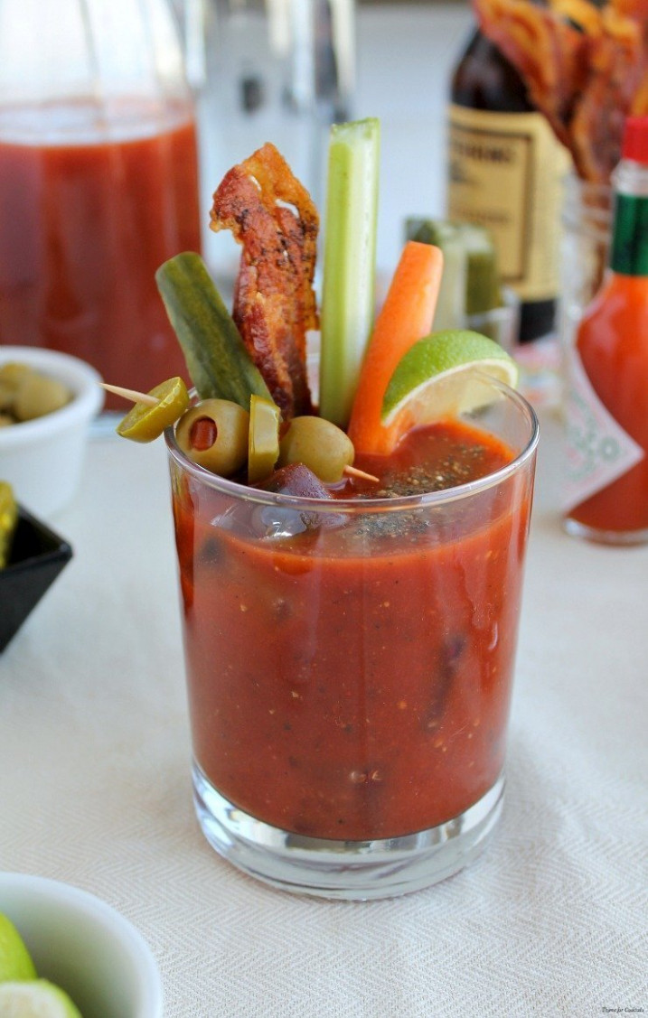 Spicy Southwest Bloody Mary Mix - Thyme for Cockails - food recipes using bloody mary mix