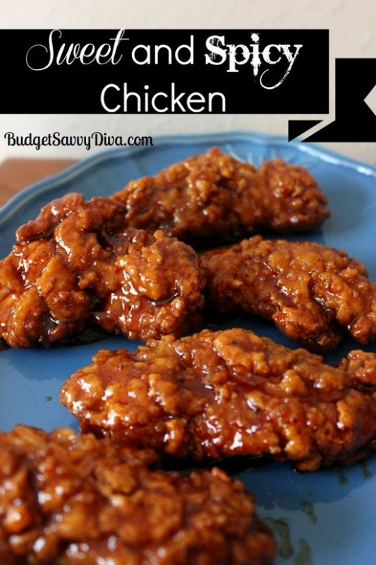 Spicy, Sweet and spicy chicken and Chicken tenders on ..