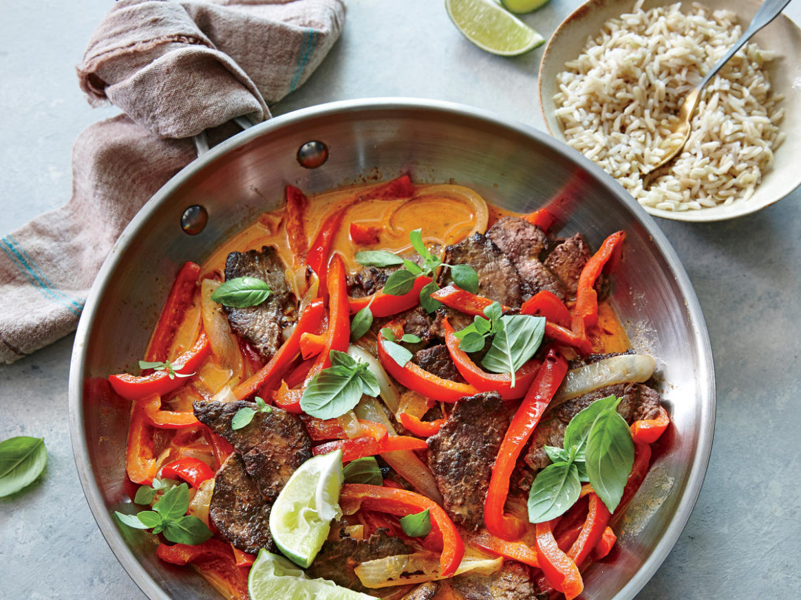 Spicy Thai Red Curry Beef - recipe vegetarian red curry