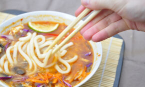 Spicy Udon Noodle Soup – The Vegetarian Ginger – Recipe Vegetarian Udon Noodle Soup