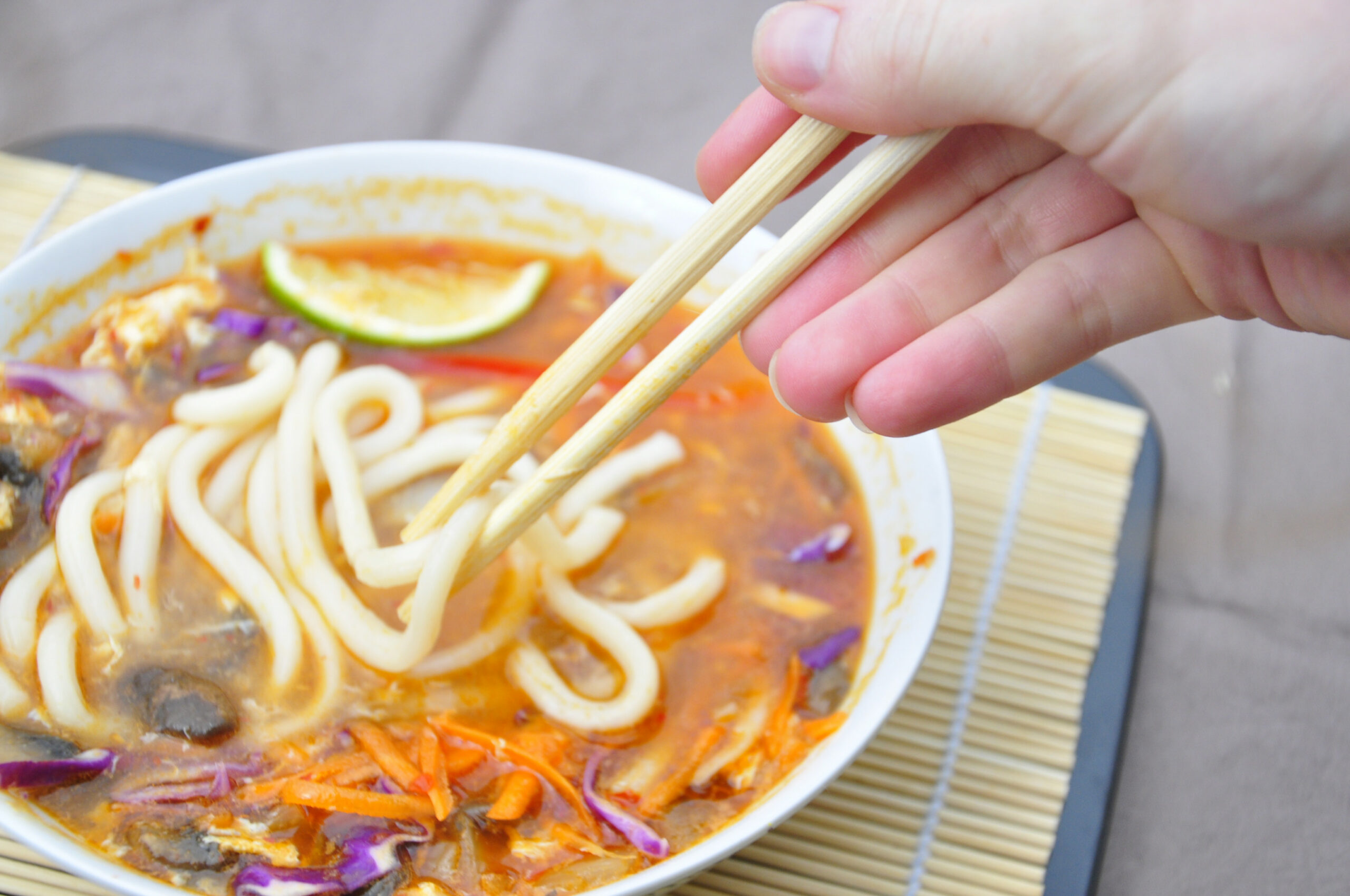 Spicy Udon Noodle Soup – the vegetarian ginger - recipe vegetarian udon noodle soup