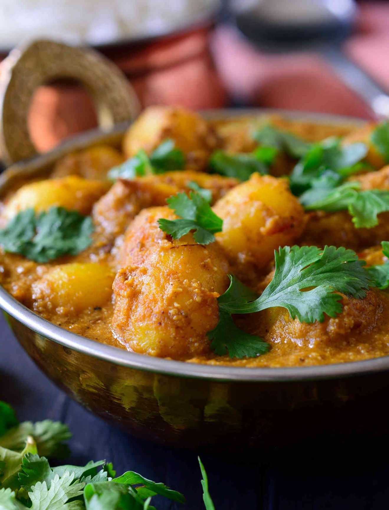 Spicy Vegan Potato Curry (Dum Aloo) | Cilantro and Citronella - recipes indian food