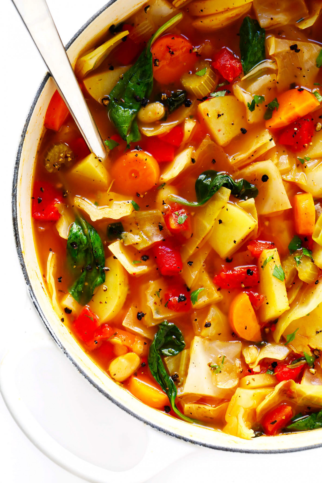 Spicy Vegetarian Cabbage Soup - quick lunch recipes indian vegetarian