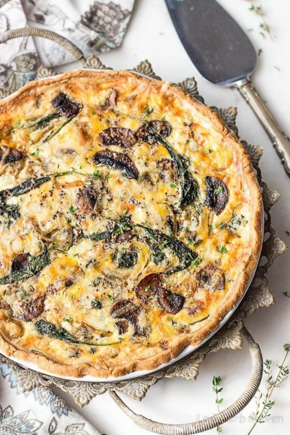 Spinach and Mushroom Quiche - Vegetable Quiche | Low Carb ..