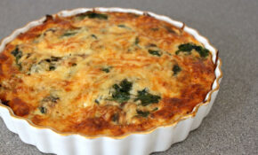 Spinach And Mushroom Quiche With Potato Hash Crust – Easy ..