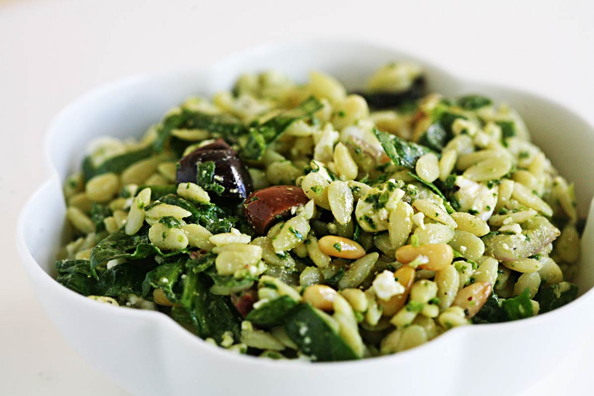 Spinach and Orzo Salad - orzo recipes vegetarian