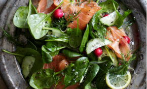Spinach And Smoked Salmon Salad With Lemon Dill Dressing – Smoked Salmon Recipes Dinner