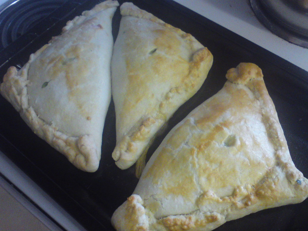 Spinach and Thyme Pasties fresh from the oven - recipes whole food plant based diet
