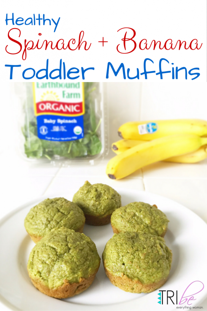 Spinach + Banana Healthy Breakfast Muffins Recipe for Toddlers - recipes breakfast muffins healthy