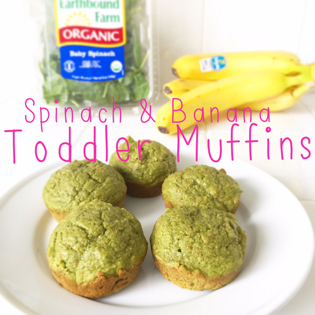 Spinach + Banana Healthy Breakfast Muffins Recipe for Toddlers - recipes muffins healthy