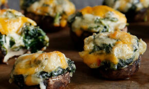 Spinach Dip Stuffed Mushrooms – Healthy Recipes With Mushrooms