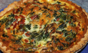 Spinach Mushroom Quiche – Recipe Vegetarian Quiche Spinach