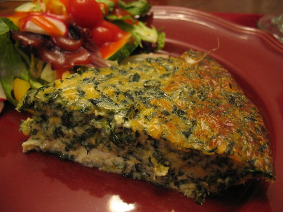 Spinach Quiche - recipe vegetarian quiche spinach