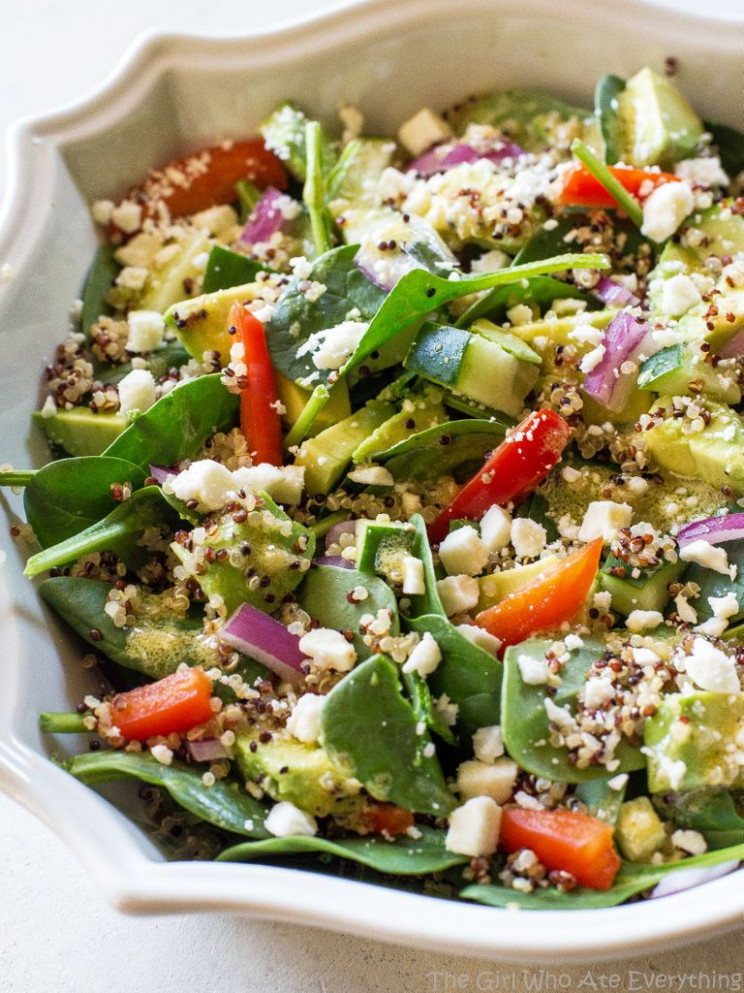 Spinach Quinoa Salad - healthy recipes quinoa salad