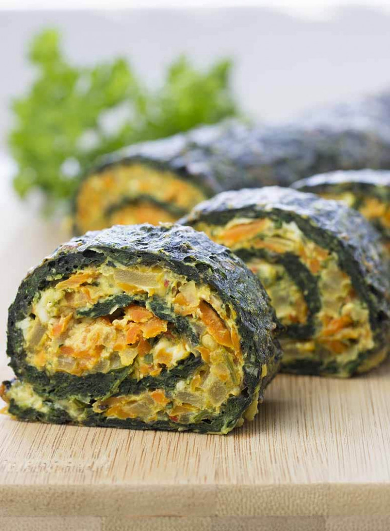 Spinach Rolls - spinach recipes vegetarian