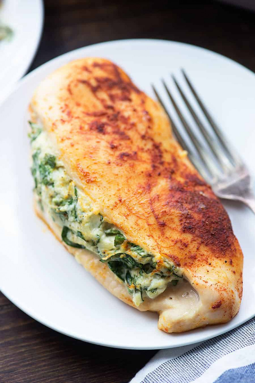 Spinach Stuffed Chicken Breasts - a healthy low carb dinner ..