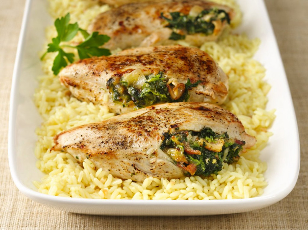 Spinach Stuffed Chicken Breasts Recipe - Recipes With Shredded Chicken
