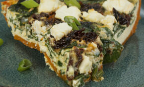 Spinach & Sun Dried Tomato Sweet Potato Crusted Quiche Recipe By Tasty – Recipes Quiche Vegetarian