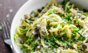 Spiralized Zucchini Noodles (Zoodles) With Lemon Caper ..