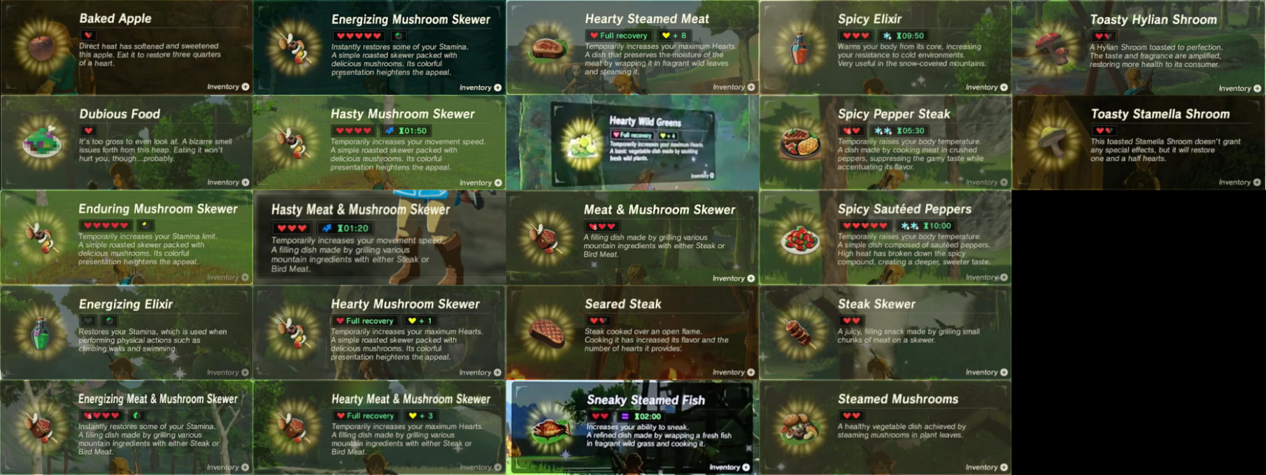 SPOILERS] Breath Of The Wild - Here's Every … - Reddit - Legend Of Zelda Breath Of The Wild Food Recipes