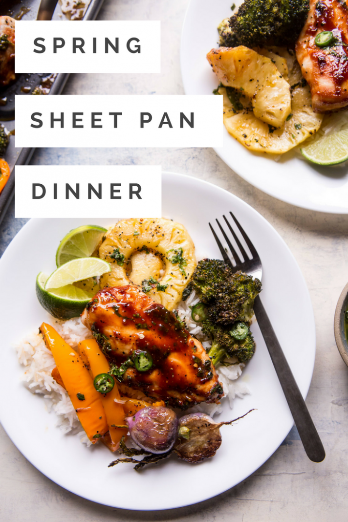 Spring One Sheet Pan Dinner - dinner recipes gourmet