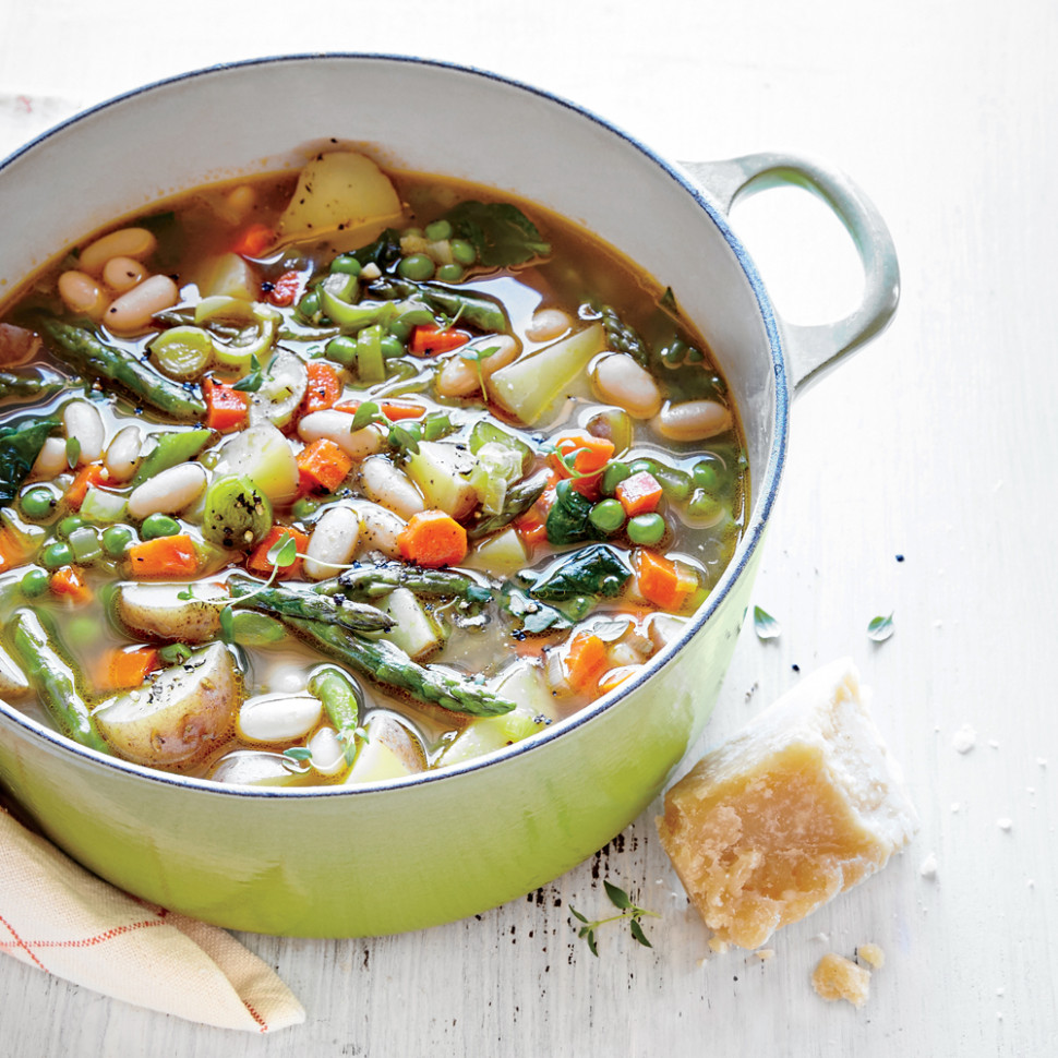 Spring Vegetable Soup Recipe | MyRecipes - recipes of vegetarian soups