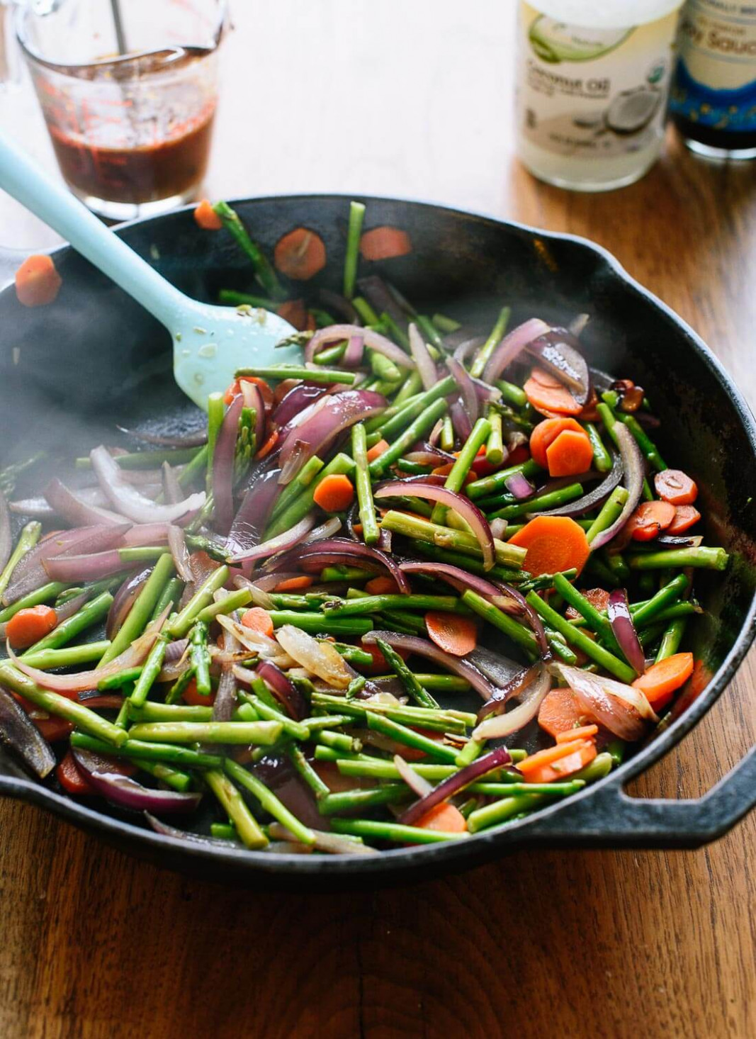 Spring Veggie Stir-Fry - Cookie and Kate - vegetarian recipes you can add meat to