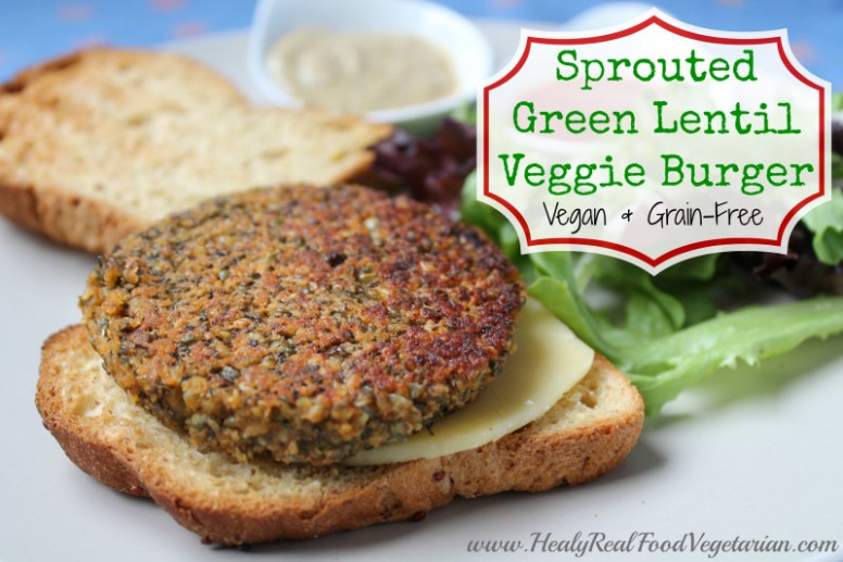 Sprouted Green Lentil Burger (vegan, grain-free) - Healy ..
