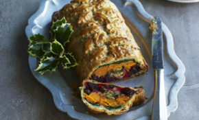 Squash and beetroot vegetarian Wellington recipe - goodtoknow