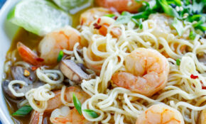 Sriracha Shrimp Ramen Noodle Soup – Healthy Recipes Ramen Noodles