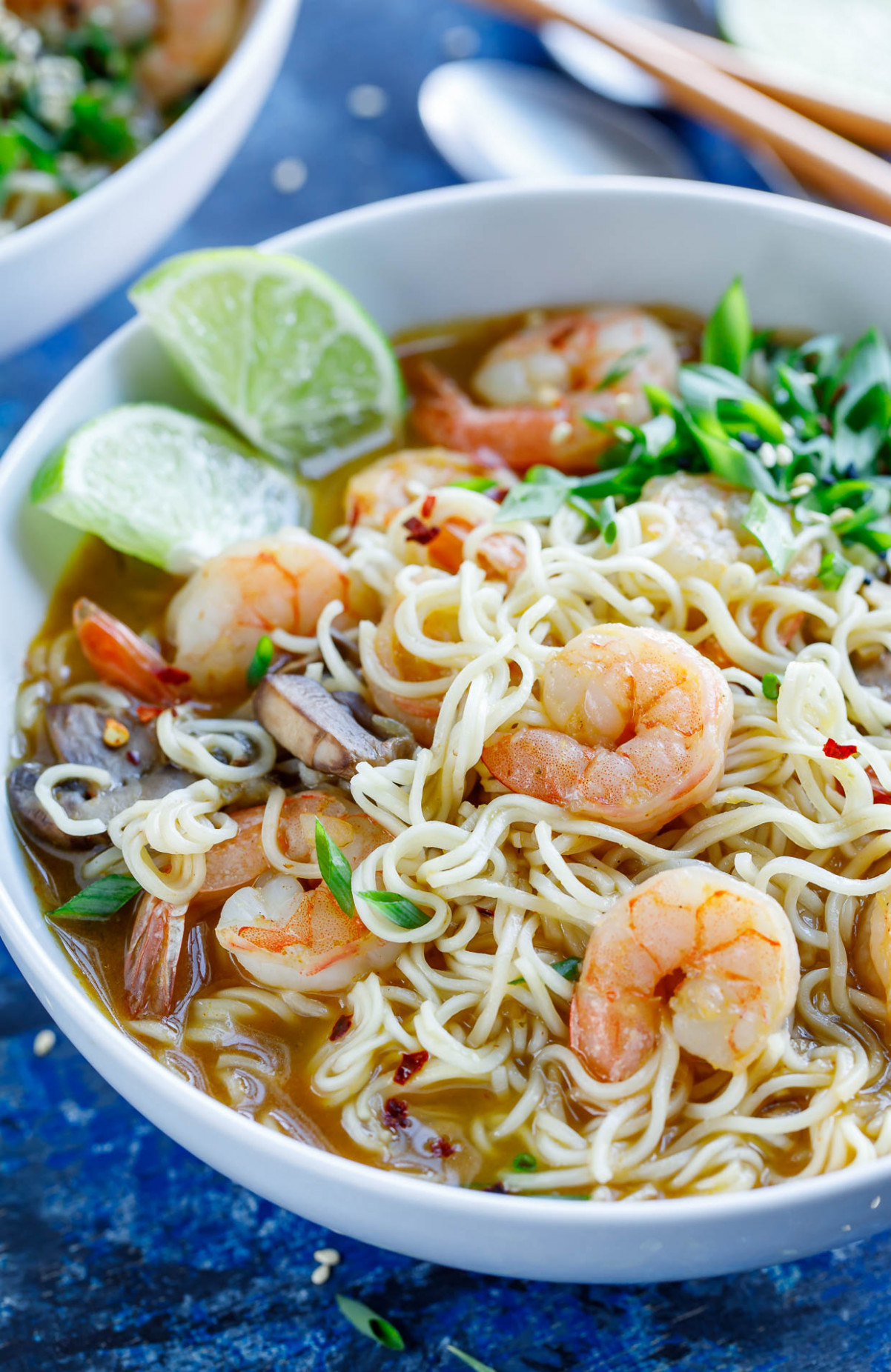 Sriracha Shrimp Ramen Noodle Soup - healthy recipes ramen noodles