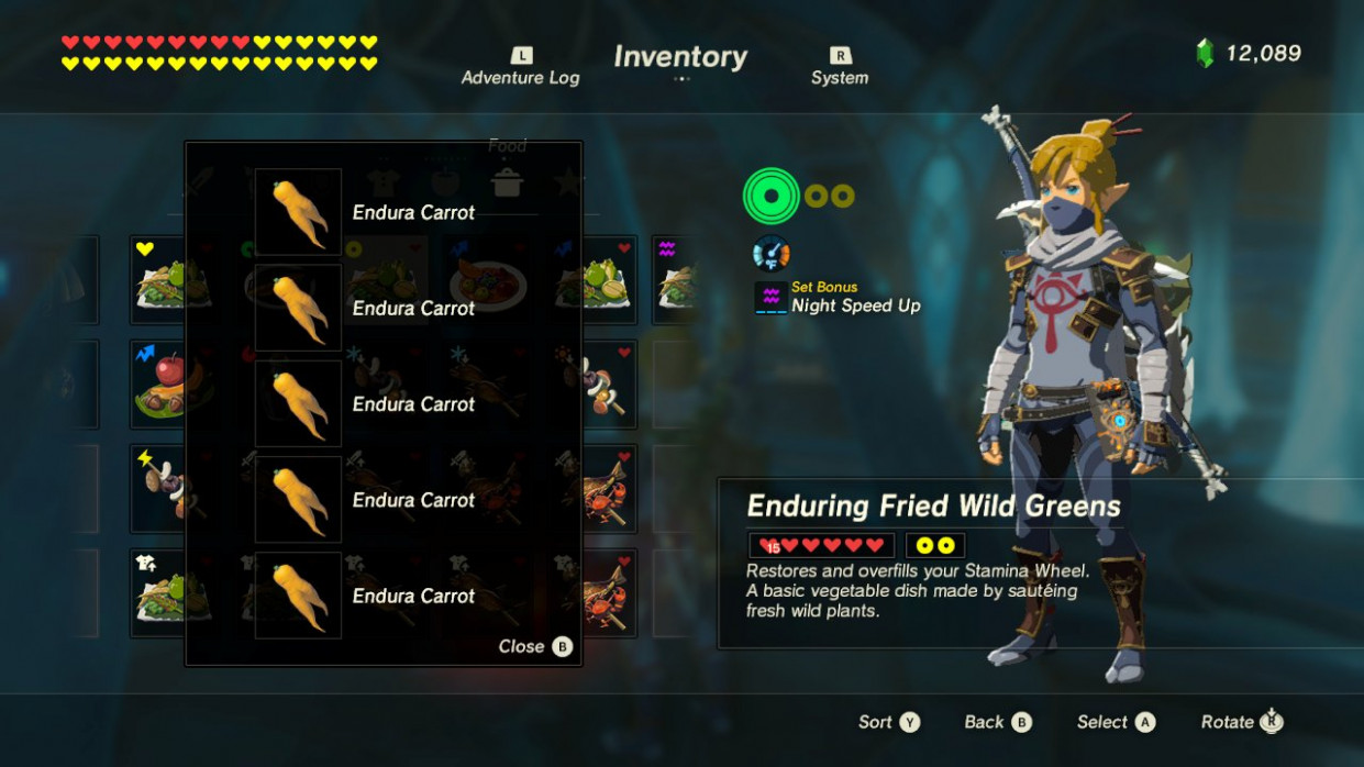 Stamina Food Zelda All of the elixir and food recipes for ..
