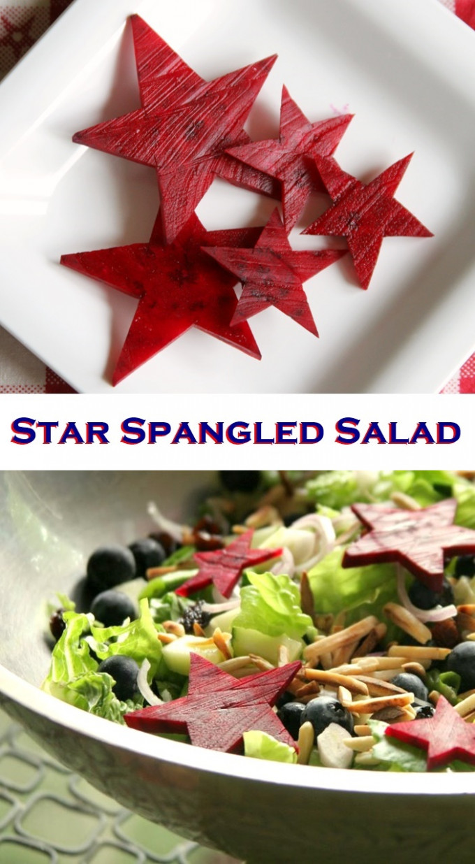 Star Spangled Salad - healthy fourth of july recipes