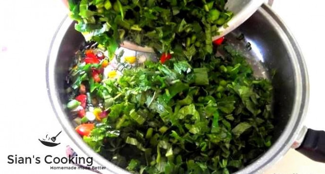Steamed Callaloo Recipe, Jamaican Style - Vegetarian Recipes Jamaican Style