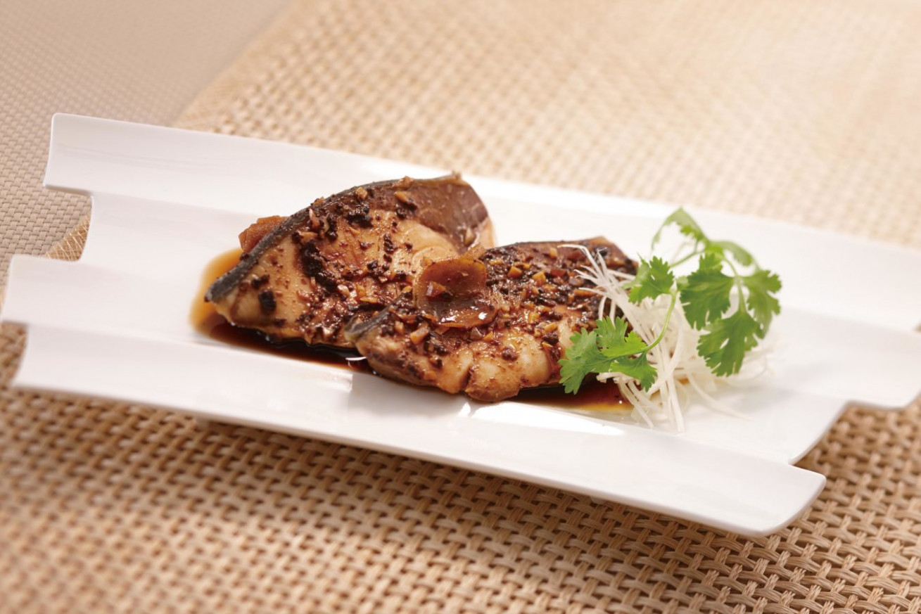 Steamed Japanese Amberjack with Black Bean Sauce - healthy recipes japan
