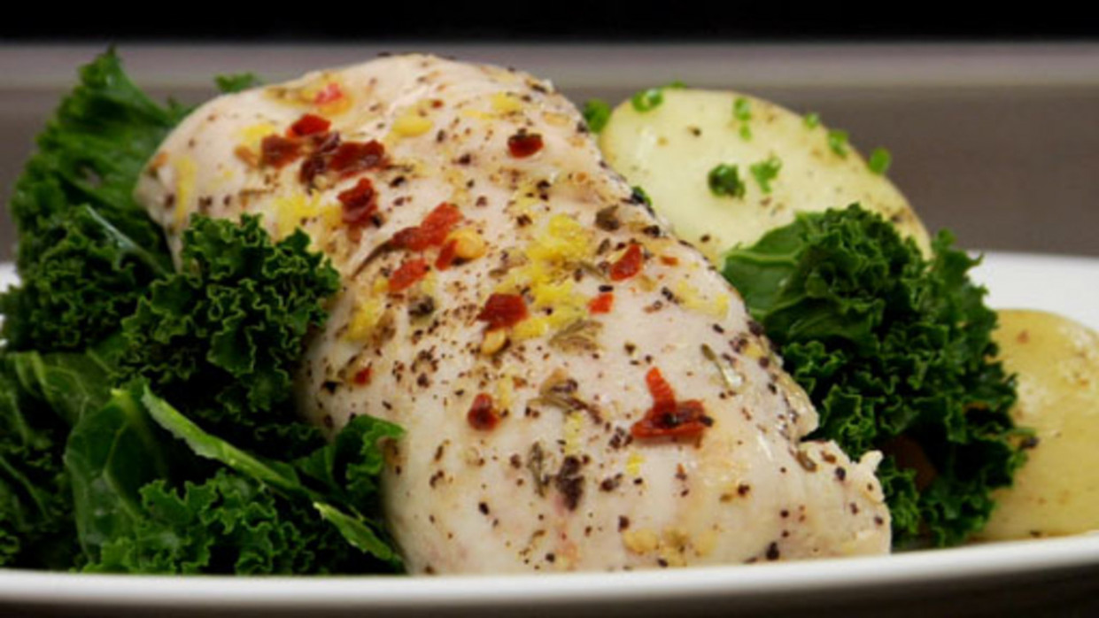 Steamed Lemon-Garlic Chicken with Thyme - recipes garlic chicken